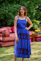 TAARA Bohemian Silk Slip Dress in Periwinkel Princess (One Size)