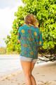 MABEL Oversize Bohemian Silk Tunic Blouse in Maharani (One Size)