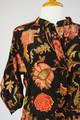 TALYNN Bohemian Printed Silk Blouse in Midnight Rose  (S/M)