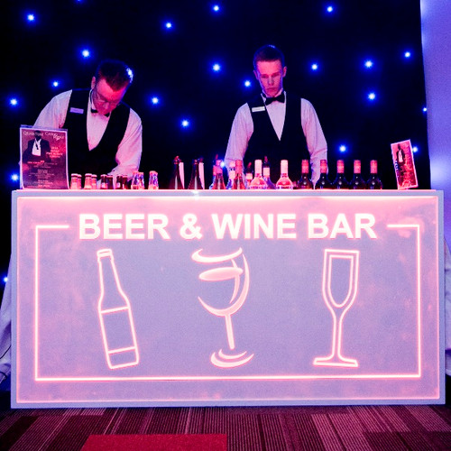 "Our custom bar fronts add a real ""WOW"" factor to your event"
