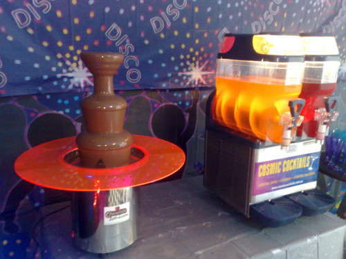 Slush Machines always add a WOW factor, but when you add a Chocolate Fountain into the mix it's OMG!