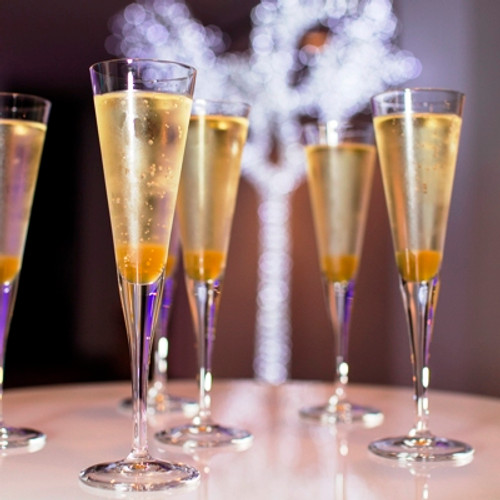 Sparkling Apple Cider is a great replacement for Champagne, they look the same.