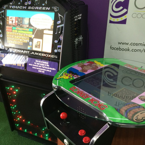 Have the best of both worlds. Set you jukebox to those 80's music classics while you relive your childhood playing your favourite retro games.
