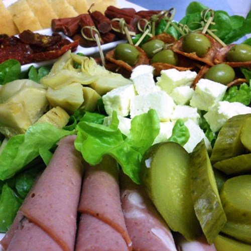 Our Antipasto platter is like getting two platters for the price of one as we supply a platter of Turkish bread as well.