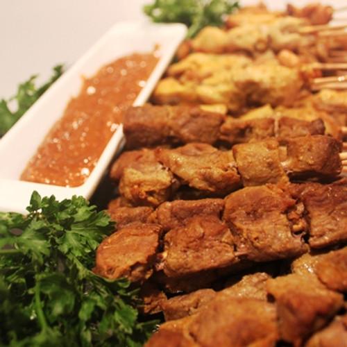 Chicken and Beef Satay Sticks