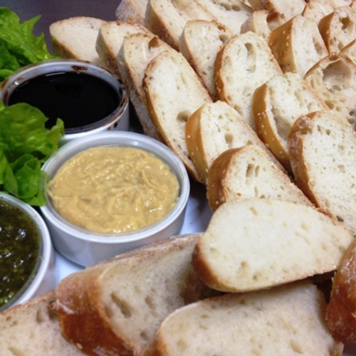 Great party starter. It's always a great idea to have some bread around when alcohol is being served.