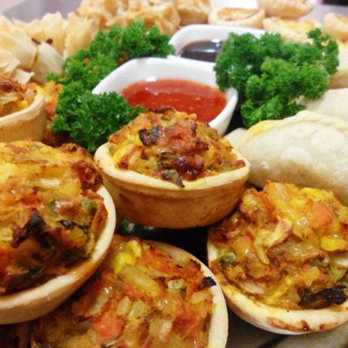 Even though it's Vegetarian, everyone will enjoy this platter.
