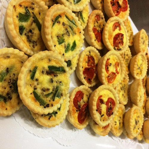 Who doesn't like Quiche? Perfect for Corporate Event, Meetings, Morning Tea served hot but can also be cold.