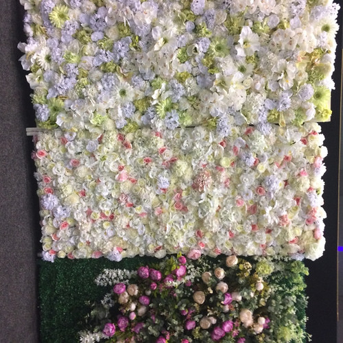 We have three flower walls to choose from as well as Flower Arches, ask us for more details.