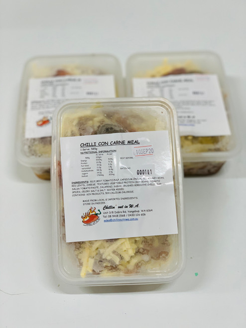 Easy to store take away container frozen meal.