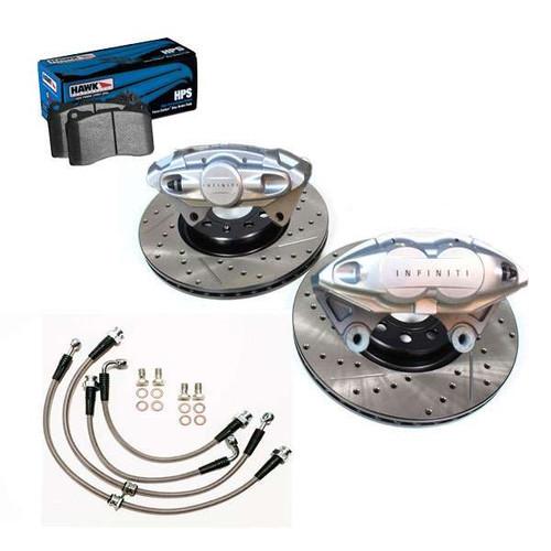 "AKEBONO INFINITI Front and Rear 14"" Big Brake Kit, 2014+ Q50 Q50 Brakes"