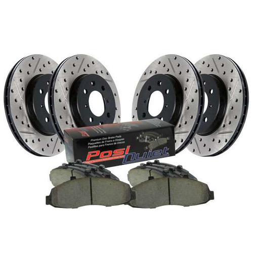 Stoptech Slotted-Drilled Axle Pack - (AKEBONO) - 08+ G37, 09+ 370Z 370z Brakes
