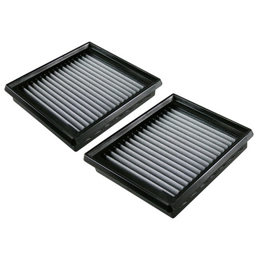 aFe PRO Dry S Replacement Panel Air Filters - VQ35HR, VQ37VHR (Pair)