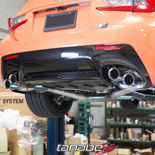 Tanabe Medallion Touring Axle-Back Exhaust Dual Muffler Quad Tip 2015+ Lexus RC-F