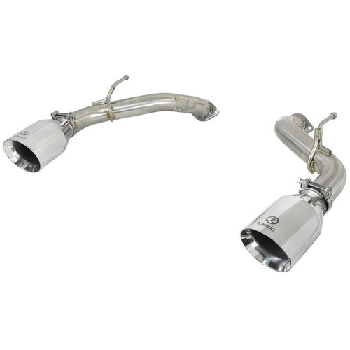aFe Power Takeda Axle Back Exhaust System Polished Tip Q50 3.0tt
