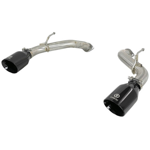 aFe Power Takeda Axle Back Exhaust System Black Tip Q50 3.0tt