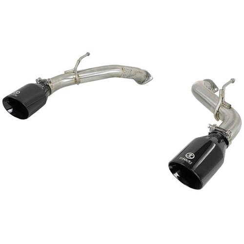 aFe Power Takeda Axle Back Exhaust System Black Tip Q50 3.0tt