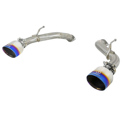 aFe Power Takeda Axle Back Exhaust System Blue Flame Tip Q50 3.0tt