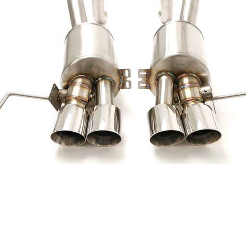 B&B Exhaust C7 Corvette Z06 Fusion Gen. 3 Axle Back Exhaust System, Automatic, Round Tips