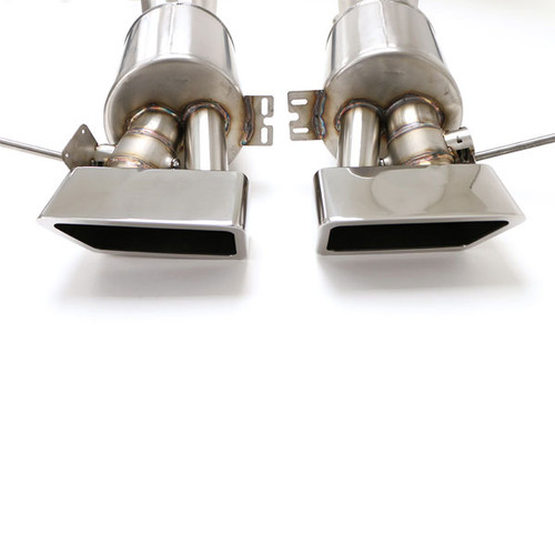 B&B Exhaust C7 Corvette Z06 Fusion Gen. 3 Axle Back Exhaust System, Automatic, Speedway Tips