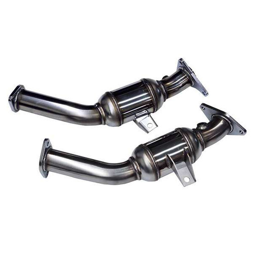 "HKS Stainless Steel Lower Down Pipes, 2.5"" Resonated - Infiniti Q50 / Q60 3.0T VR30DDTT Q50 Exhaust"
