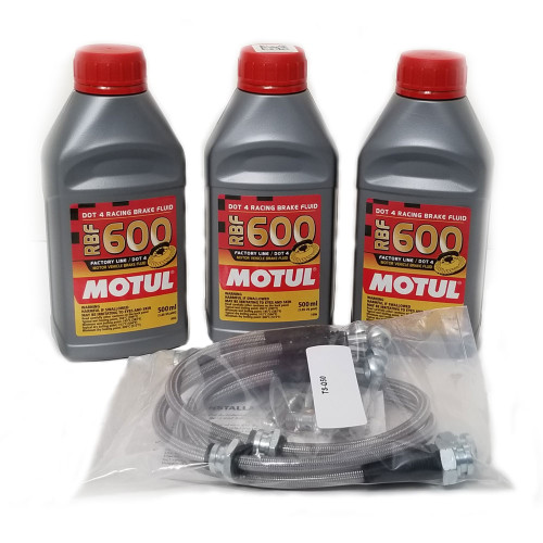 Tunerz Store Stainless Steel Brake Lines and Motul RFB 600 Brake Fluid Q50 Q60