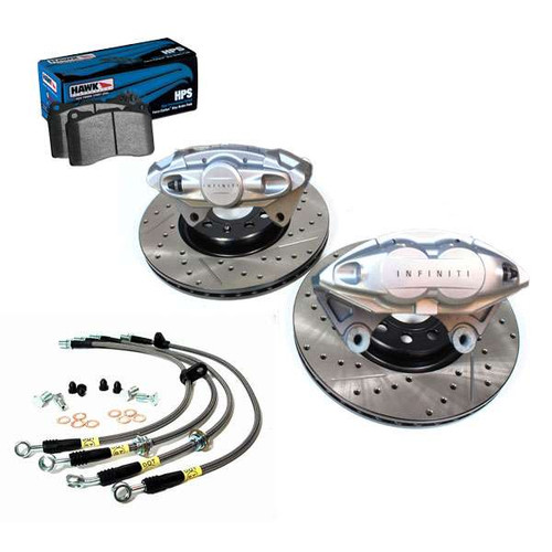 "AKEBONO INFINITI Front and Rear 14"" Big Brake Kit, 07-08 G35 Sedan, 08+ G37 Coupe/Sedan G37 Brakes"