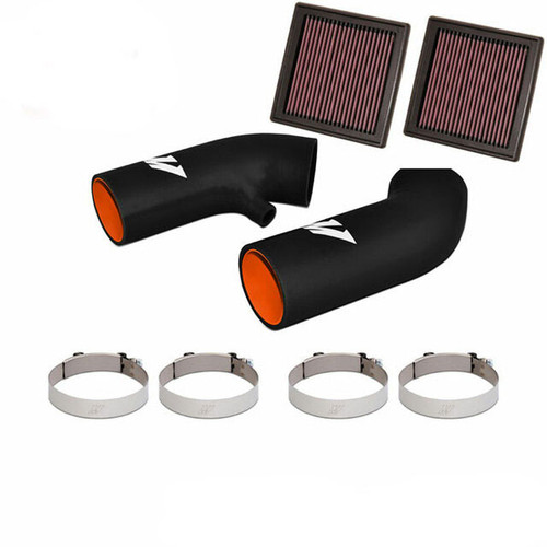 Mishimoto Dual Intake Hose Kit and K&N Replacement Filters COMBO - VQ35HR/VQ37VHR