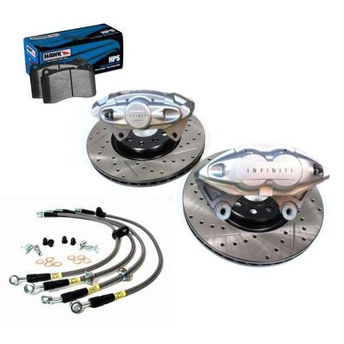 "AKEBONO INFINITI Front and Rear 14"" Big Brake Kit, 2011+ M37/M56/Q70 M37/M56/Q70 Brakes"