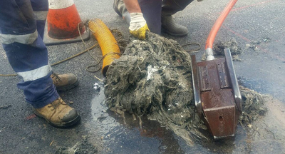 Single use wet wipes block pipes