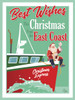 East Coast Christmas Express Greeting Cards