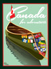 "Canada Canoe - 10-Pack of  4""x 6"" Art Cards"