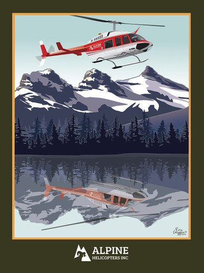 """Alpine Mountains - 10-Pack of  4""""x 6"""" Art Cards"""