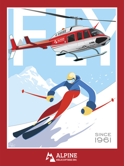 "Alpine Helicopters - 10-Pack of  4""x 6"" Art Cards"
