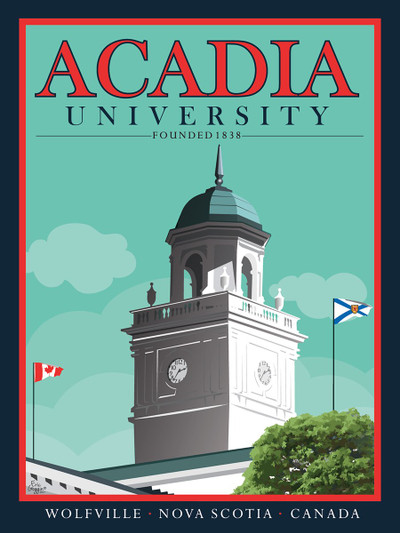 "Acadia University - 10-Pack of  4""x 6"" Art Cards"