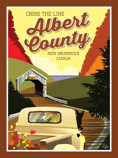 """Albert County - 10-Pack of  4""""x 6"""" Art Cards"""