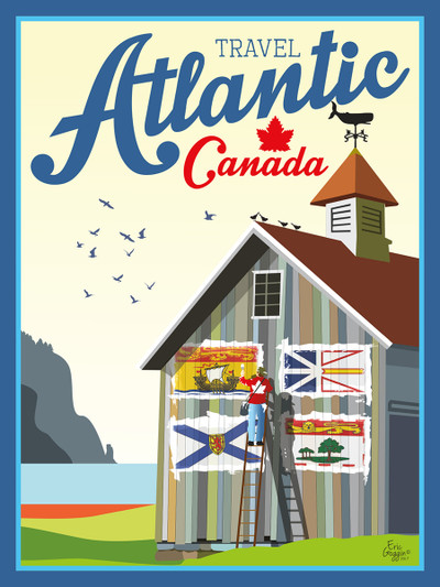 "Atlantic Canada - 10-Pack of  4""x 6"" Art Cards"