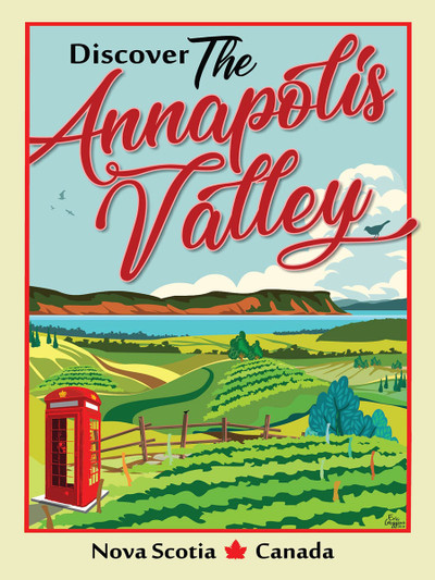 "Annapolis Valley Phone Booth - 10-Pack of  4""x 6"" Art Cards"