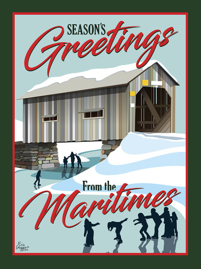 Season's Greetings - Bridge - Greeting Cards