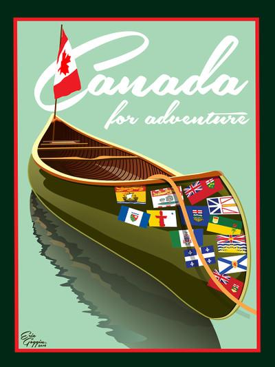 Canada Canoe - Ready2Frame