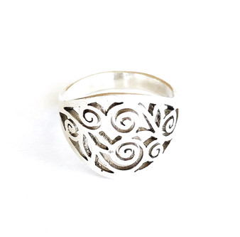 Nanda Ring Sterling Silver