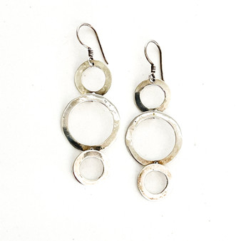 Three Circles Sterling Silver Earrings