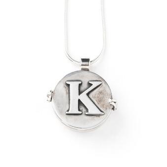 Alphabet Sterling Silver Locket