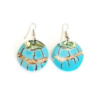 Mother of Pearl Earrings Large