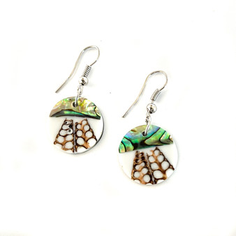 Mother of Pearl Earrings Circle Small