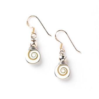 Shiva Eye Sterling Silver Earrings Mini