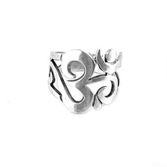 Ohm Ring Sterling Silver