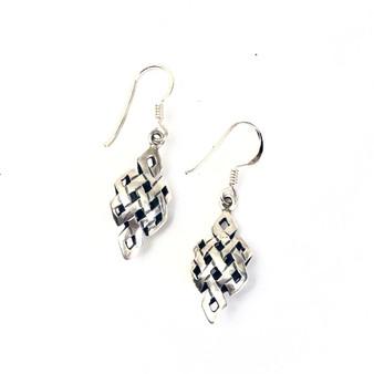 Earrings Never Ending Love  Knot Double Sterling Silver