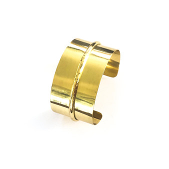 Deepta Yellow Copper Bracelet Cuff