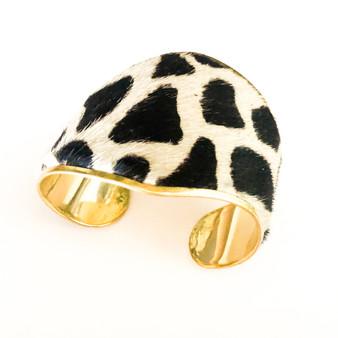 Leopard Print  Bracelet  Cuff Black